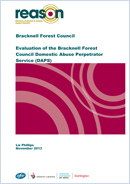 Evaluation of the Bracknell Forest Council Domestic Abuse Perpetrator Service (DAPS)