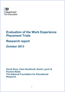 Evaluation of the Work Experience Placement Trials